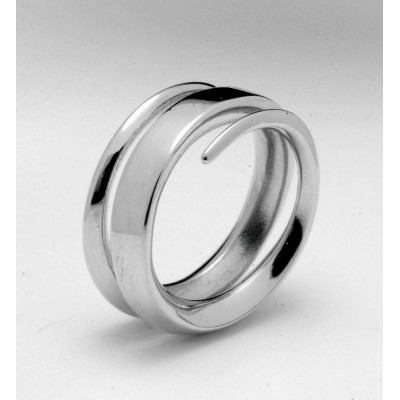 18ct White Gold Full Spiral Ring - The Name Jewellery™