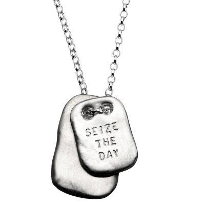 Mens Personalised Tablet Necklace - The Name Jewellery™