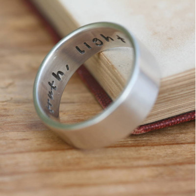 Pure And Simple Personalised Mens Ring - The Name Jewellery™
