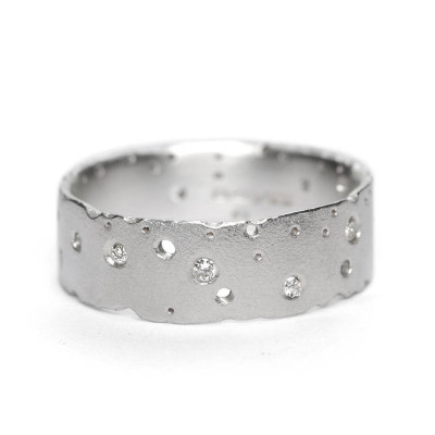 Diamond 18ct White Gold Ring - The Name Jewellery™