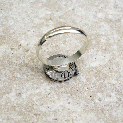 Fly Fishing Reel Ring Antiqued Pewter - The Name Jewellery™