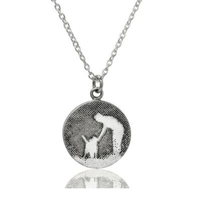 Personalised Walk With Me Dog Necklace - The Name Jewellery™