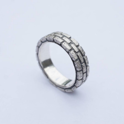 Brick Silver Ring - The Name Jewellery™