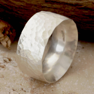 Chunky Hammered Ring - The Name Jewellery™