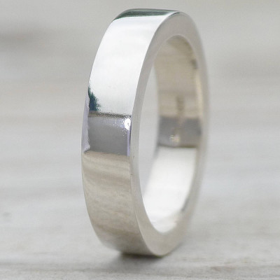 Handmade Chunky Mens Silver Ring - The Name Jewellery™