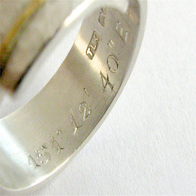 Chunky Sterling Silver Rounded Hammered Ring - The Name Jewellery™