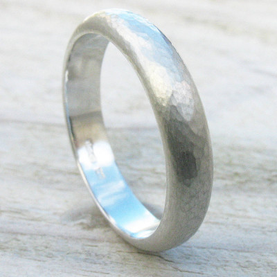 Handmade Sterling Silver Hammered Ring - The Name Jewellery™