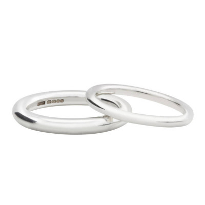 Sterling Silver Halo Wedding Band - The Name Jewellery™