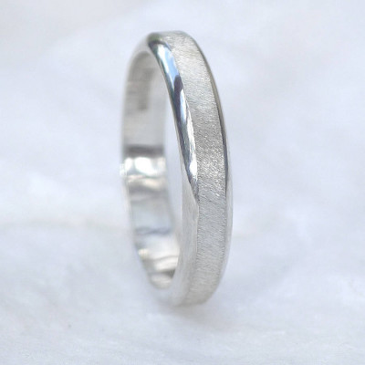 Diamond Cut Textured Sterling Silver Ring - The Name Jewellery™