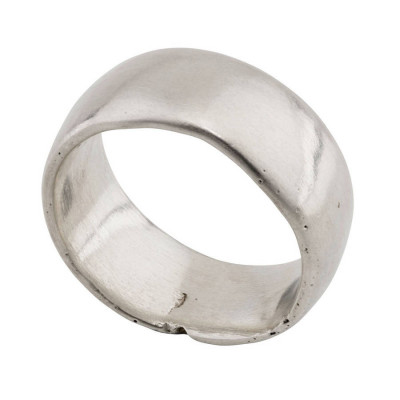 Sterling Silver Domed Sand Cast Wedding Ring - The Name Jewellery™
