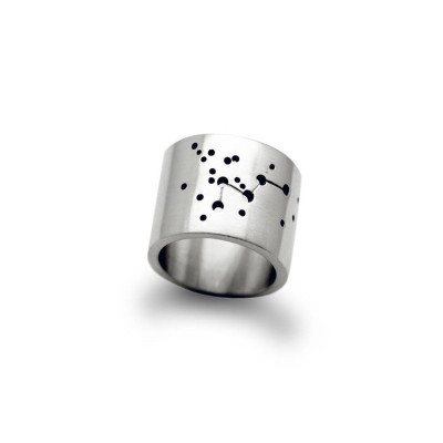 Personalised Wide Constellation Ring - The Name Jewellery™