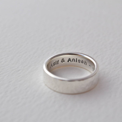 Hammered Silver Hidden Message Ring - The Name Jewellery™