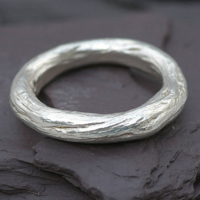 Gents Silver Rose Root Ring - The Name Jewellery™