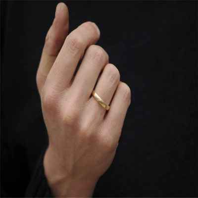 Mans Gold Wedding Band - The Name Jewellery™
