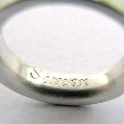 Medium Sterling Silver Ring - The Name Jewellery™