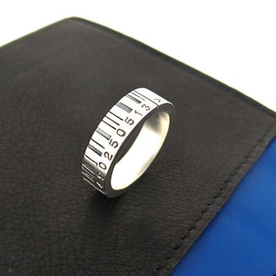 Medium Silver Barcode Ring - The Name Jewellery™