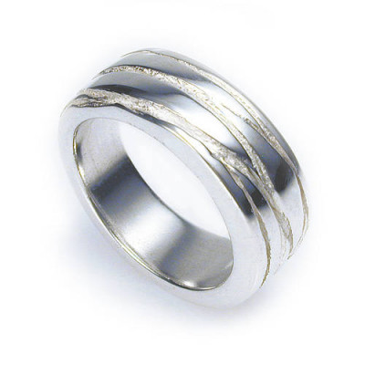Silver Texture Bound Ring - The Name Jewellery™