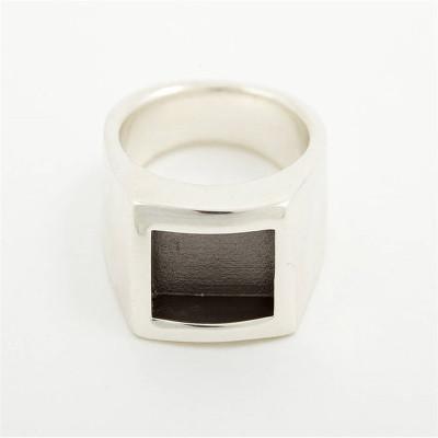 Men Gentlemen Ring Black - The Name Jewellery™
