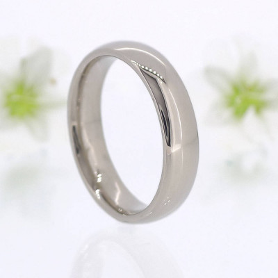 Mens Comfort Fit 18ct Gold Wedding Ring - The Name Jewellery™