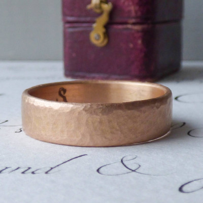Mars Mens Fairtrade 18ct Rose Gold Wedding Ring - The Name Jewellery™