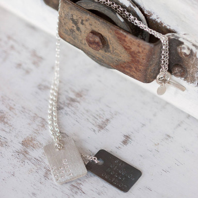 Mens Personalised Silver Tag Necklace - The Name Jewellery™