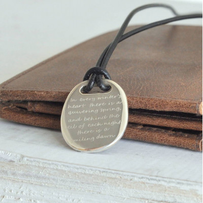 Mens Silver Quote Necklace - The Name Jewellery™