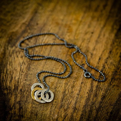 Mens Family Eternity Necklace - The Name Jewellery™
