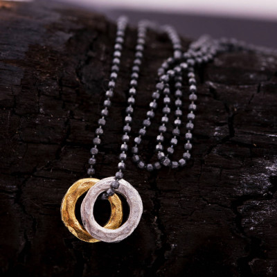 Mens Mixed Metal Eternity Necklace - The Name Jewellery™