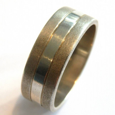 Mens Silver Band Ring - The Name Jewellery™
