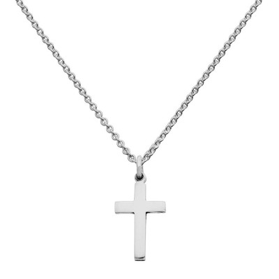 Mini Silver Cross Charm Necklace - The Name Jewellery™