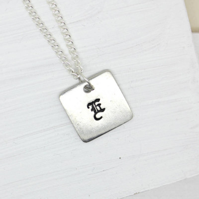 Personalised Old English Style Font Necklace - The Name Jewellery™