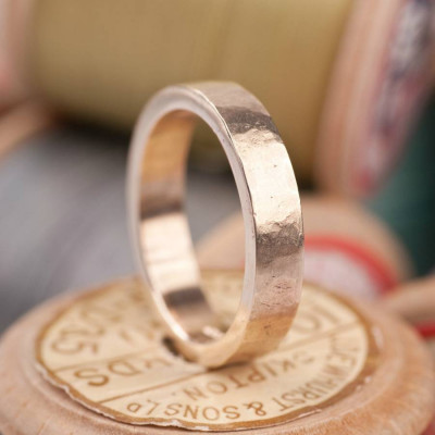 Organic Textured 18ct Gold Ring - The Name Jewellery™
