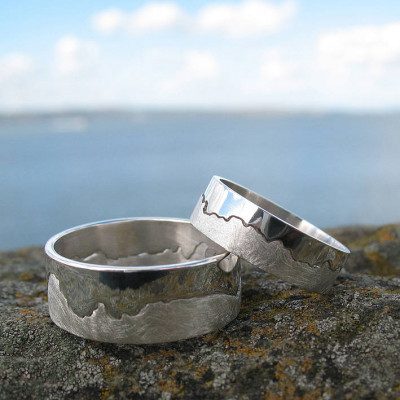 Mens Coastline Map Ring - The Name Jewellery™