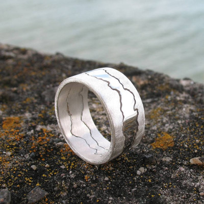 Personalised Double Coastline Ring - The Name Jewellery™