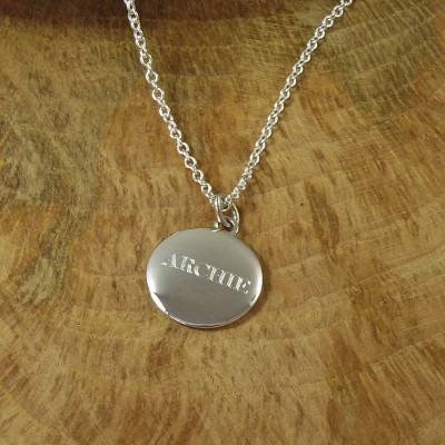 Personalised Mens Silver Pebble Necklace - The Name Jewellery™