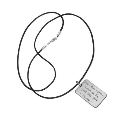 Mens Personalised Dog Tag Necklace - The Name Jewellery™