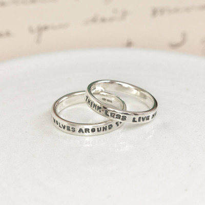 Personalised Silver Message Ring - The Name Jewellery™