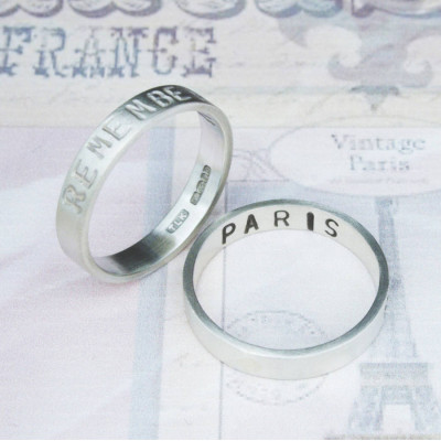 Personalised Remember… Your Story Ring - The Name Jewellery™