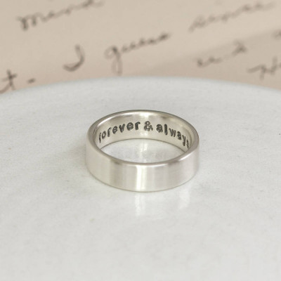 Personalised Silver Hidden Message Ring - The Name Jewellery™
