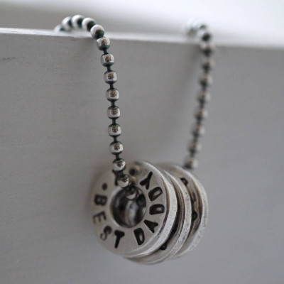 Personalised Silver Washer Necklace - The Name Jewellery™