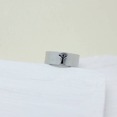 Personalised Viking Rune Initial Talisman Ring - The Name Jewellery™