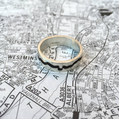 River Thames Cutout Ring - The Name Jewellery™