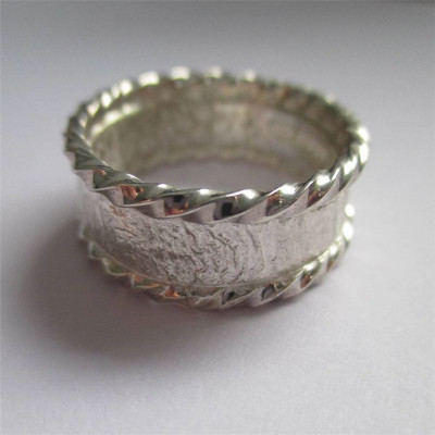 Rocky Outcrop Twist Ring - The Name Jewellery™