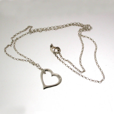 Valentines Silver Heart Necklace - The Name Jewellery™