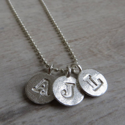 Silver Letter Charm And Ball Chain Necklace - The Name Jewellery™