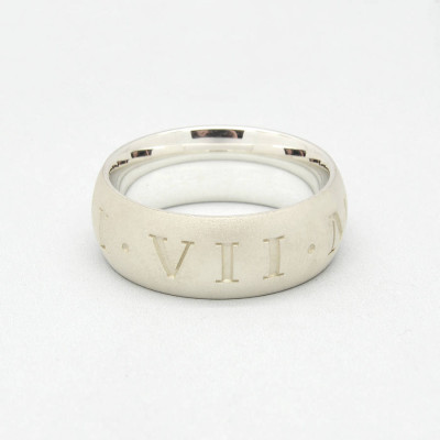 Silver Roman Numeral Ring - The Name Jewellery™
