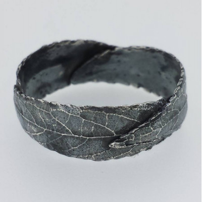 Silver Three Leaf Band Ring - The Name Jewellery™