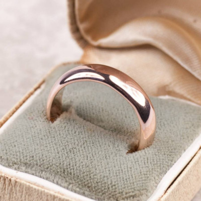 Simple Handmade Mens Wedding Ring In 18ct Gold - The Name Jewellery™