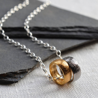 Small Meteorite Rings Necklace - The Name Jewellery™