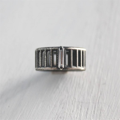 Sterling Silver Inclusions Ring - The Name Jewellery™